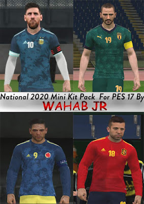 National 2020 Mini Kits Pack PES 2017 By WAHAB JR