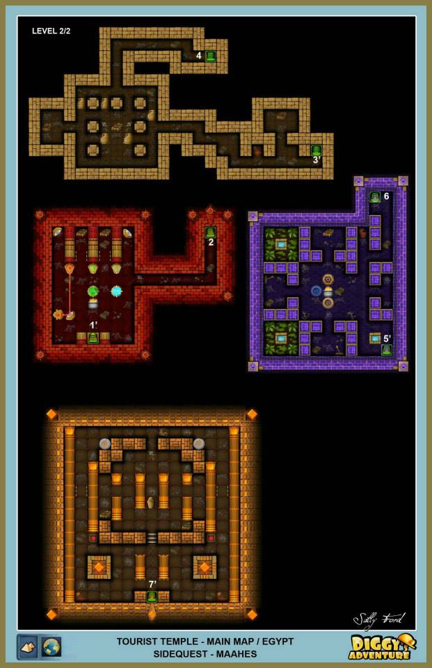Diggy's Adventure Walkthrough: Egypt Main / Tourist Temple Level 2
