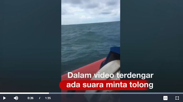 Ya Allah Bikin Merinding, Terdengar Suara Perempuan Menjerit 'Minta Tolong' di Video Pencarian Pesawat Sriwijaya
