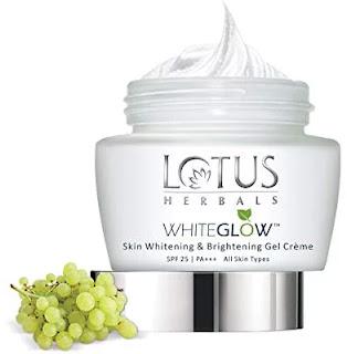 Lotus Herbals Whiteglow Skin Whitening & Brightening Gel Creme SPF-25 (best face cream for men)