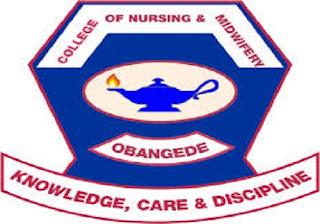 Kogi College of Nursing & Midwifery, Obangede Admission Form - 2018/2019