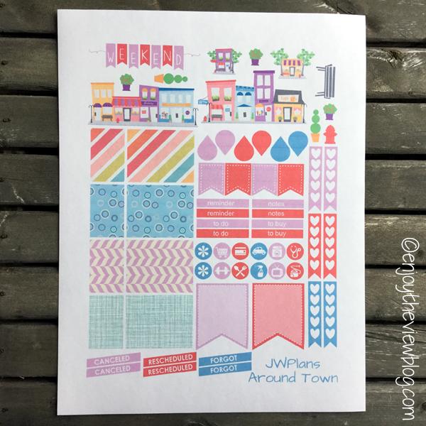 printable sticker for Erin Condren Life Planner