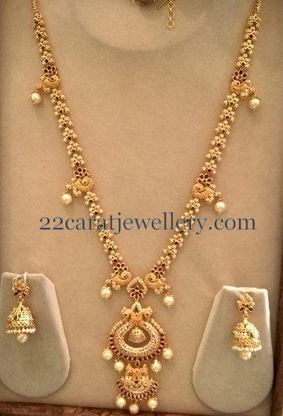 Latest Cz Long Chain By Smj Jewellery Designs