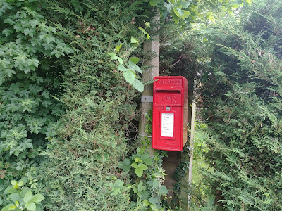Photograph of Post box ER at the junction of Marshmoor Lane and Marshmoor Crescent Image from the North Mymms History Project released under Creative Commons