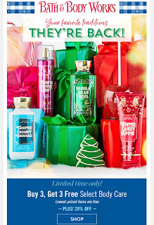 Bath & Body Works | Today's Email - December 3, 2019