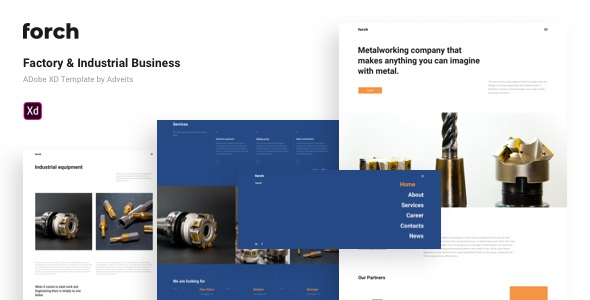 Best Factory & Industrial Business Adobe XD Template