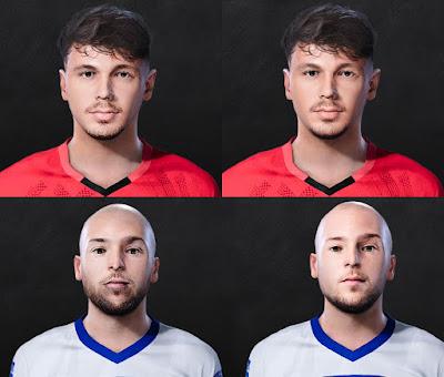 PES 2021 Faces Dario Špikić & Marin Pilj by Lukasedam7