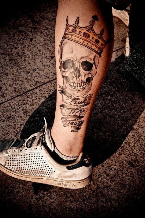 Tatuagem Masculina Caveira