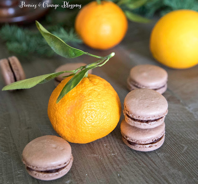 chocolate orange ganache macarons recipe