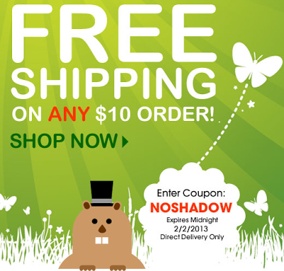 Avon Free Shipping on $10 orders! Use NOSHADOW by February 2, 2013!
