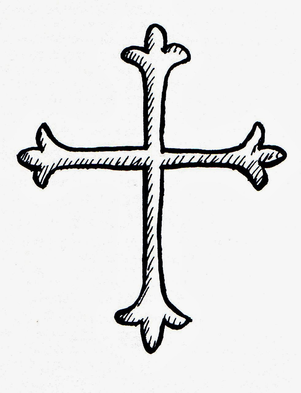 christian cross sketches - photo #2
