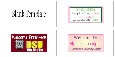 Sorority Banner Templates | Banners.com