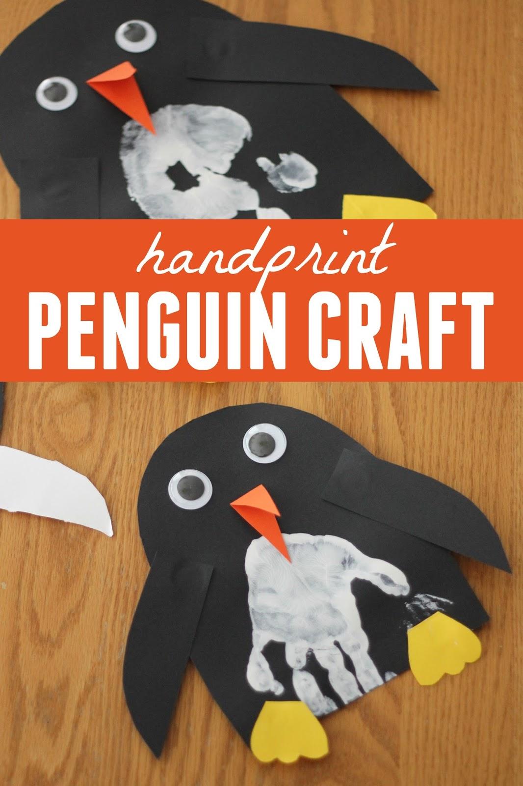 Toddler Approved Handprint Penguin Craft
