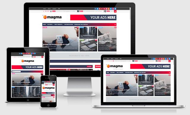 Magma - Best Responsive Magazine Blogger Theme