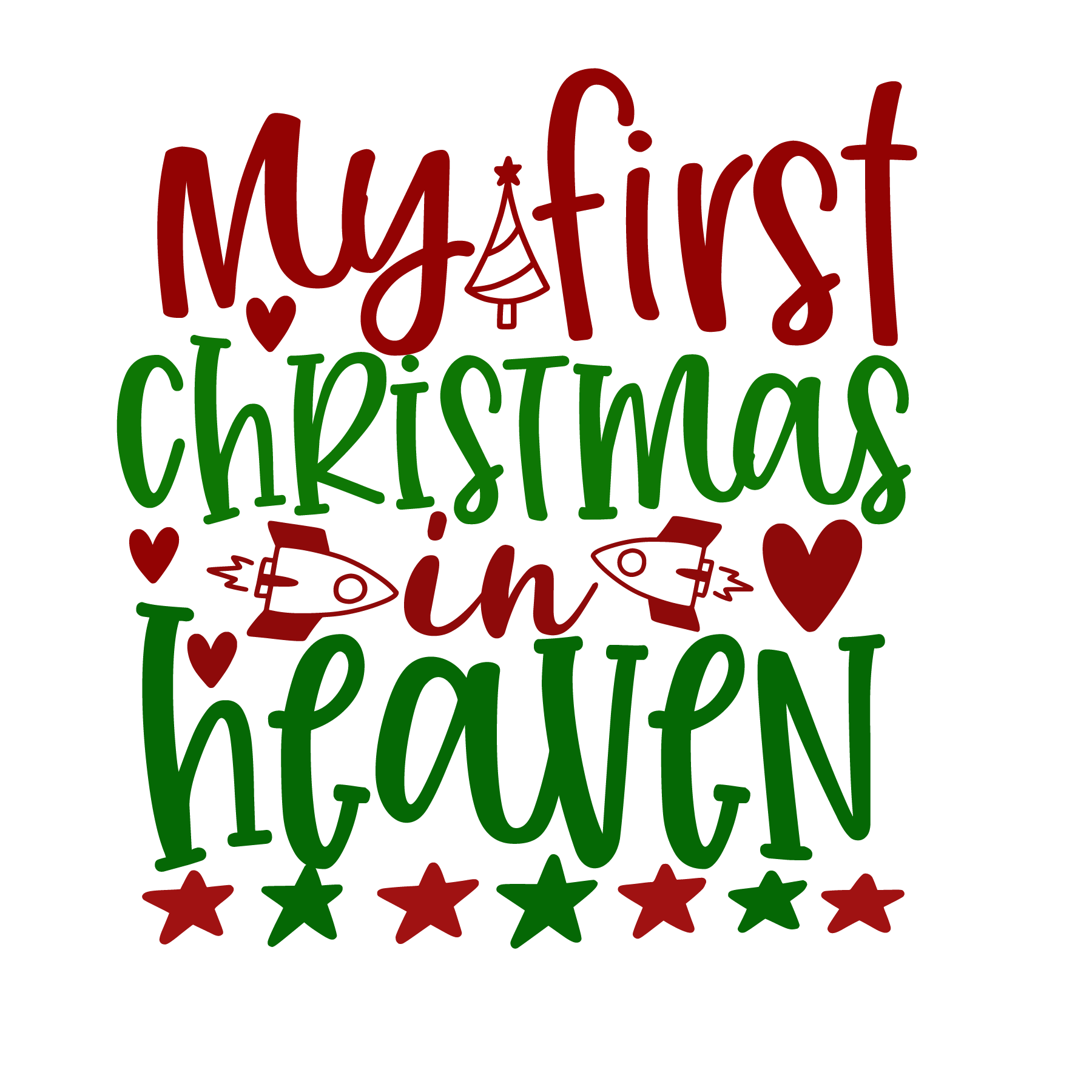 My First Christmas in Heaven SVG Cut Files