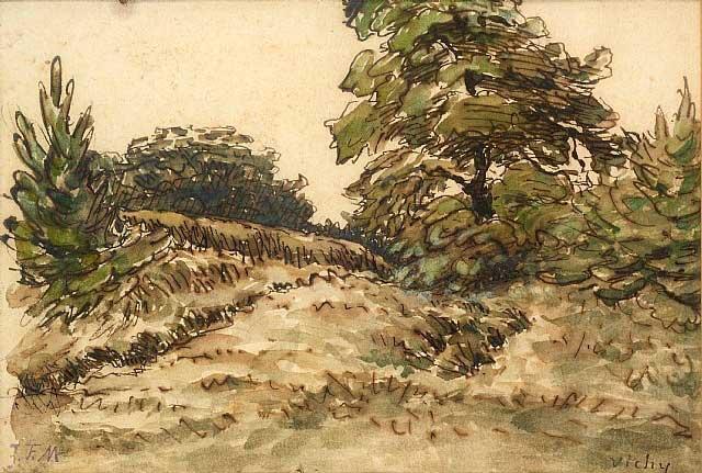 Жан Франсуа Милле - Восходящий путь, под Виши. 1867