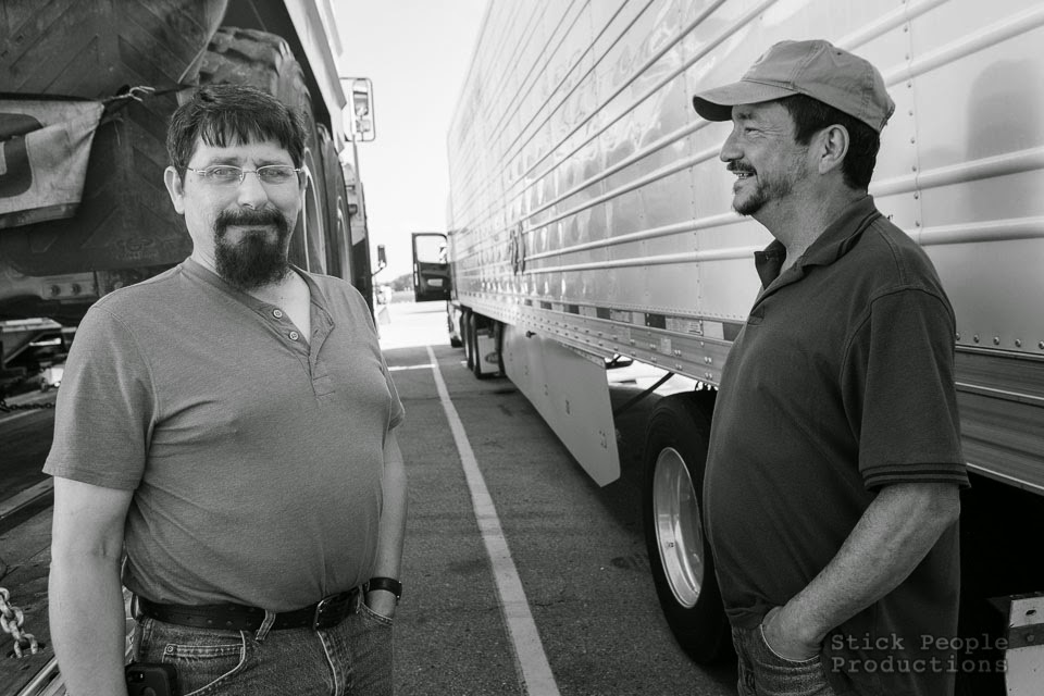 (c) Stick People Productions - Over the road truckers - Kelly Doering Photographer