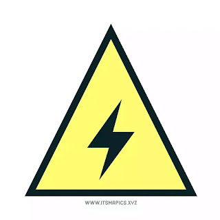 Caution high voltage electricity symbol safety