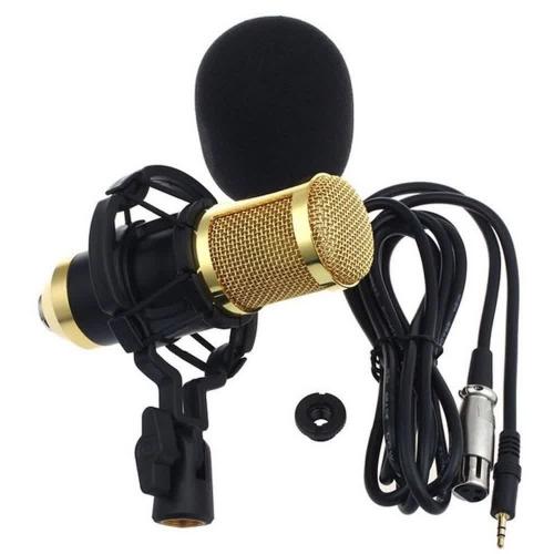 [Internacional] Microfone Condensador Profissional BM-800 + Kit Choque Plástico para Gravação