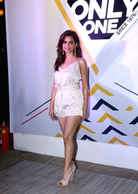 Actress Kriti Kharbanda Cross Legs Show At the Celebration of Jockey