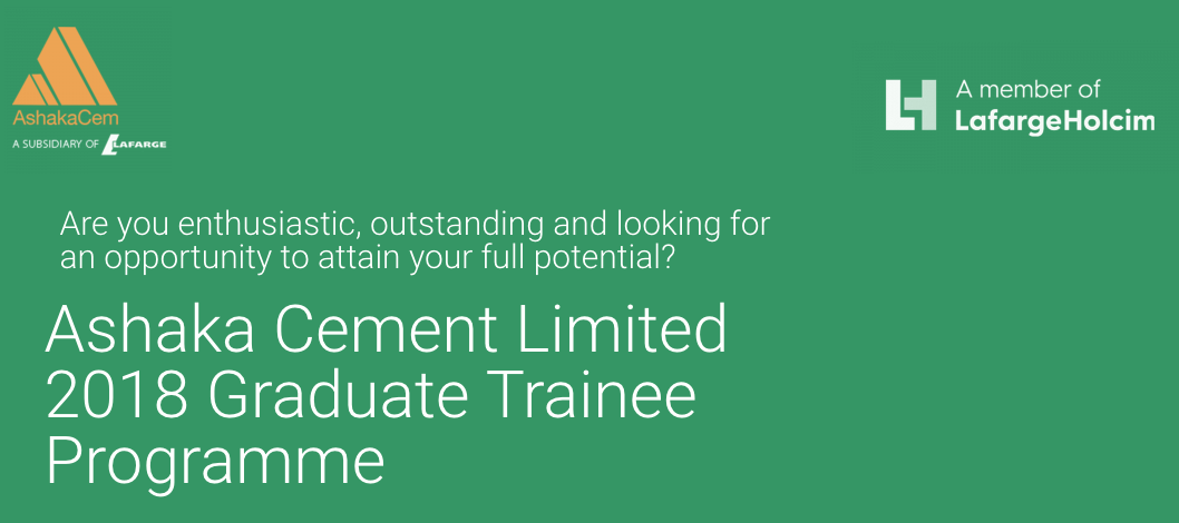 How to Apply for Ashaka Cement Limited Graduate Trainee Programme 2018
