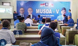 Feri Sofiyan Puji Gelaran Musda PAN ke V Kota Bima, Berjalan Sukses dan Lancar