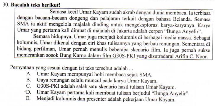 Fungsi Teks Biografi Zuhri Indonesia