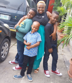 Lolo 1 shares photos with her sons