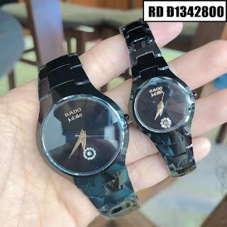Đồng hồ đeo tay dây đá ceramic đen nam tính