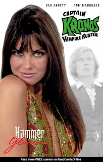 Cover B of Captain Kronos Vampire Hunter #4 from Titan Comics featuring Caroline Munro