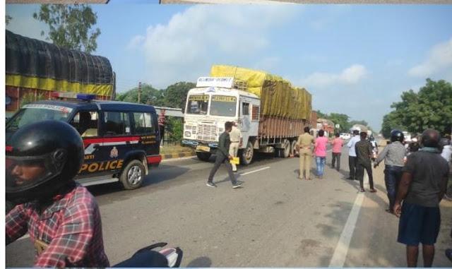 घटना स्थल पर पहुंची पुलिस