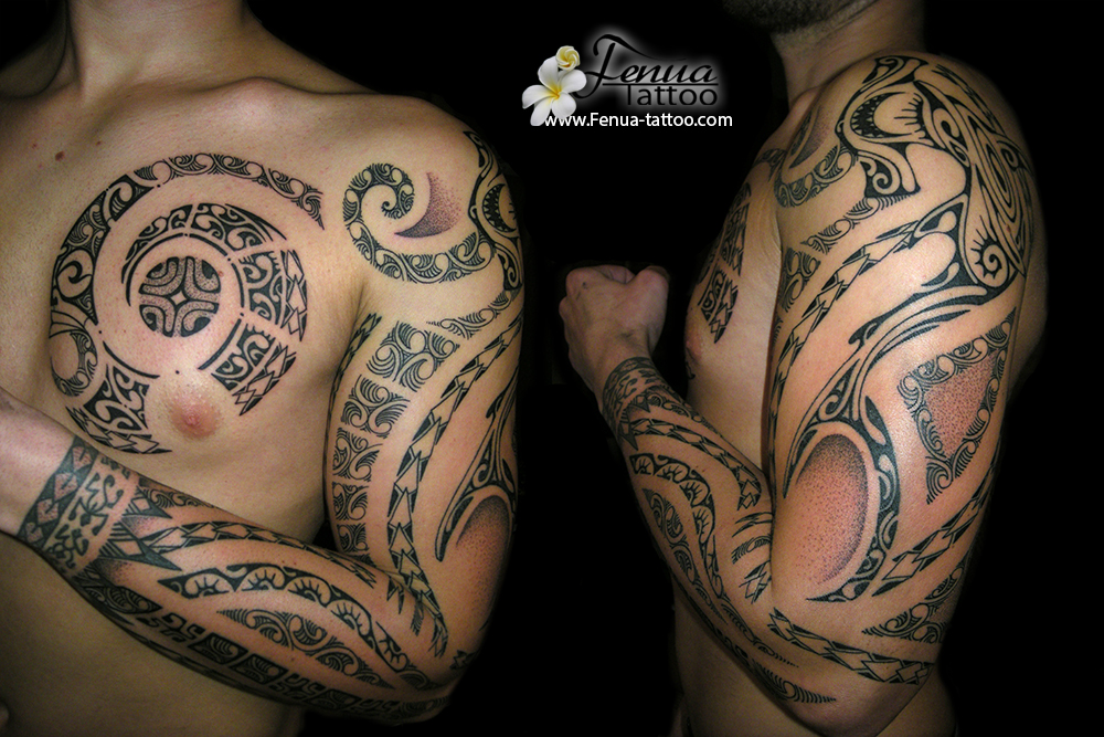 Tatouage polyn sien par fenua tattoo tahiti tattoo sp cialiste du tatouage polynesien dot - Recouvrement tatouage poignet ...