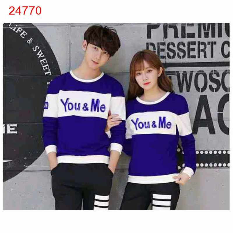 Jual Sweater Couple Sweater You Me Neo Benhur White - 24770