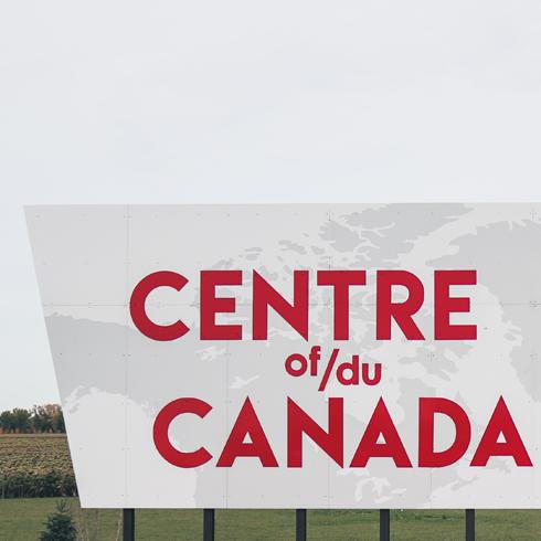 Centre of Canada Sign Manitoba