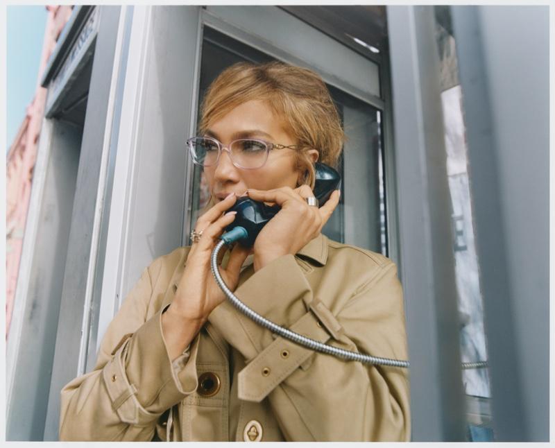 Jennifer Lopez stars in Coach Eyewear spring 2021 campaign.