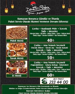 kayseri dürüm sipariş kayseri yemek sipariş kayseri lokantalar iftar menüleri