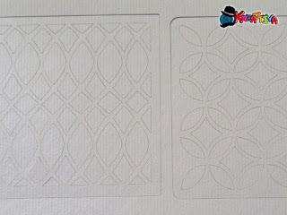 stencil con cartoncino per personalizzare i tessuti