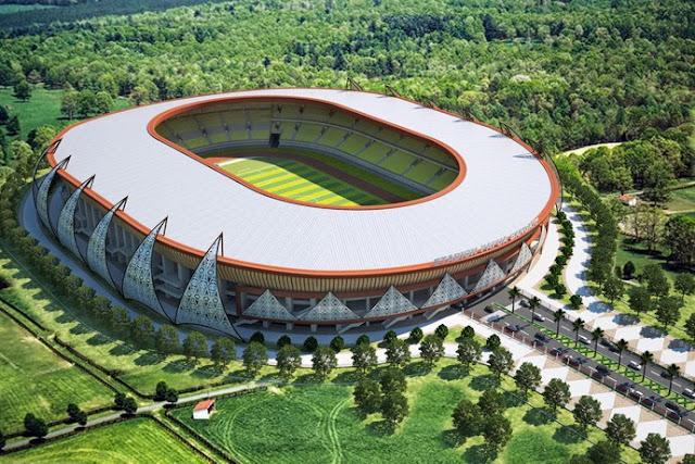 Megahnya Stadion Papua Bangkit
