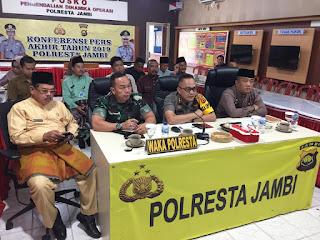 Polresta Jambi Laksanakan Kegiatan Vidcon Membahas Kesiapsiagaan Kewilayahan Dalam Menangani Bencana Alam
