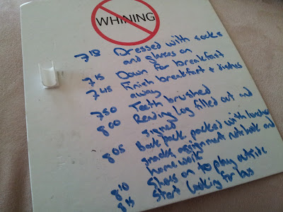 The wee ones' chores to do each morning
