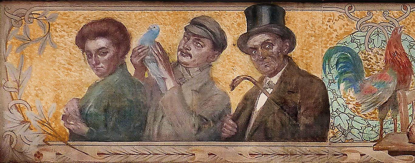 Rémy Cogghe - Fresque de la Maison du Broutteux, Tourcoing (détail)