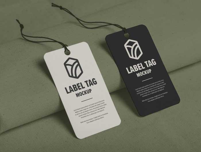 Label Tag Design PSD Mockup