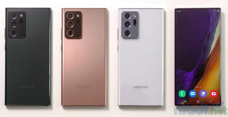 harga dan spesifikasi ponsel samsung galaxy note 20 ultra 5g colors