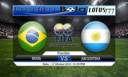 PREDIKSI BRAZIL VS ARGENTINA 17 OKTOBER 2018