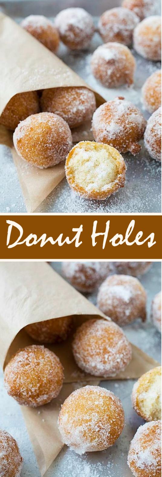 Easy Donut Holes #desserts #baking #cake #pastry #donut
