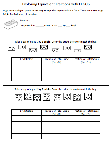 Fractions and Lego's