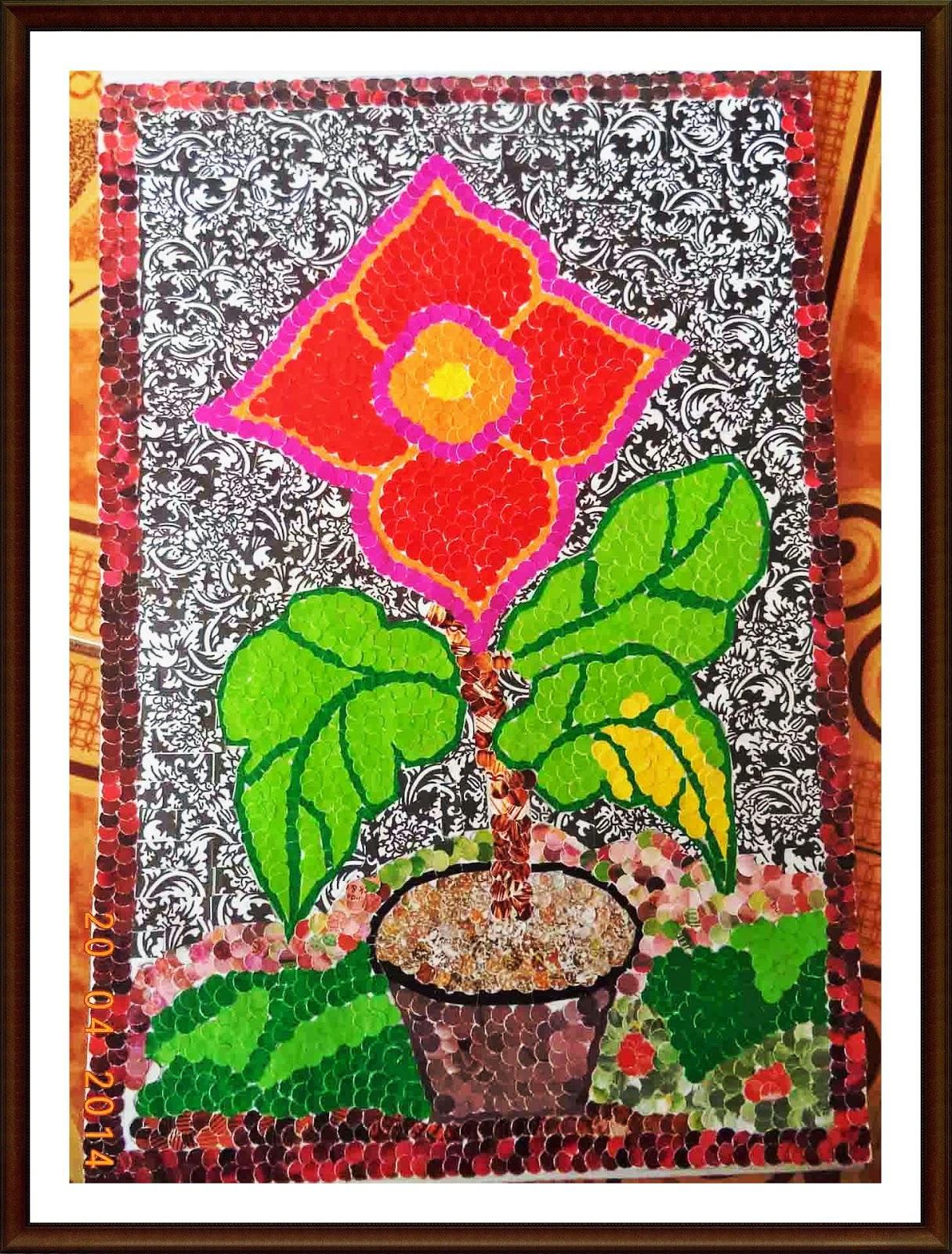 Contoh Gambar Mozaik Bunga Contoh Two – Cuitan Dokter