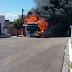 Ônibus em chamas em Santos Reis