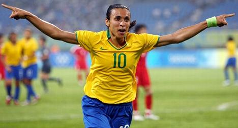 Jogadora Marta de Dois Riachos/AL é eleita pela sexta vez a melhor jogadora do mundo