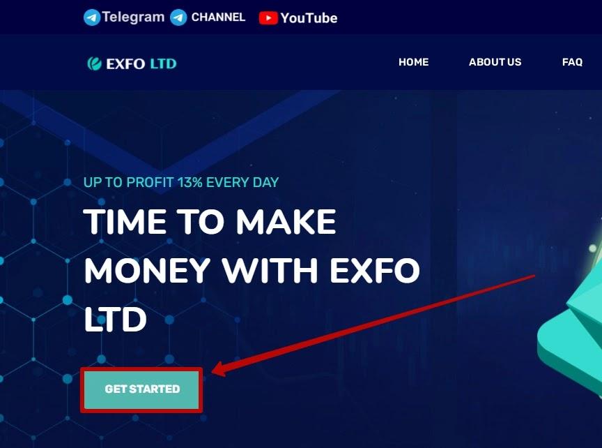 Регистрация в Exfo LTD